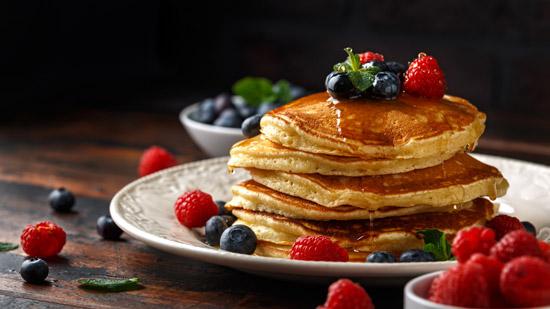 pancake mit topping
